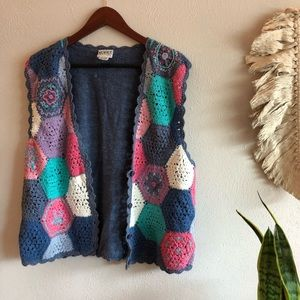 vintage sleeveless cardigan